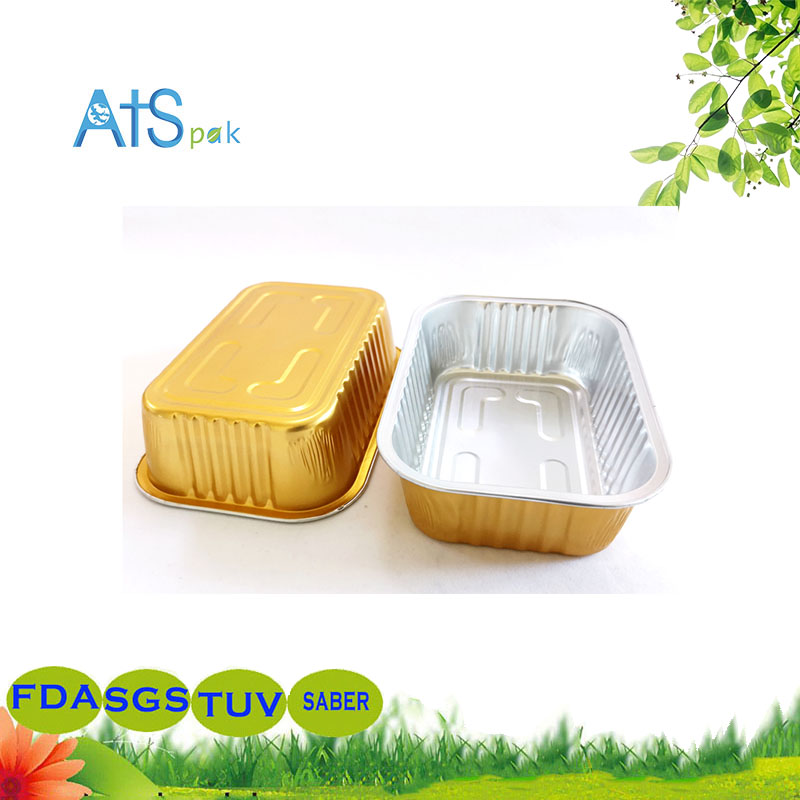 Foil aluminum take away container
