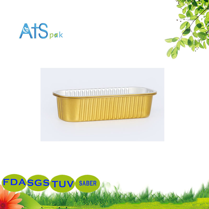 Golden Cake Sushi to Go Packing Aluminum Foil Box
