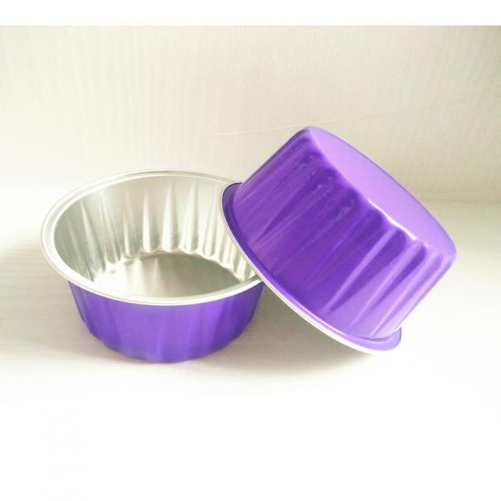 Aluminum foil roasting cup for pudding